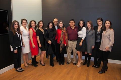 El grupo de especialistas con Martha Debayle, Luz Baena y Blanca Gómez