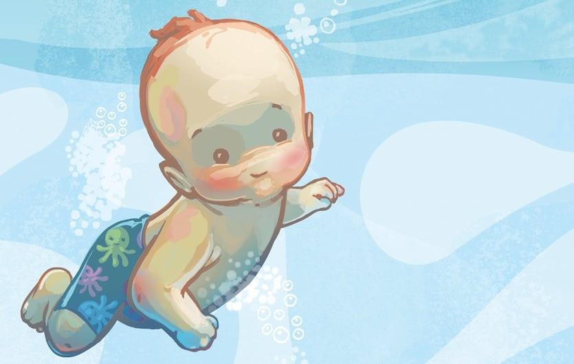 Nataci n para beb s bbmundo - Dibujos pared bebe ...