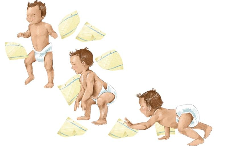 motricidad gruesa de un bebe