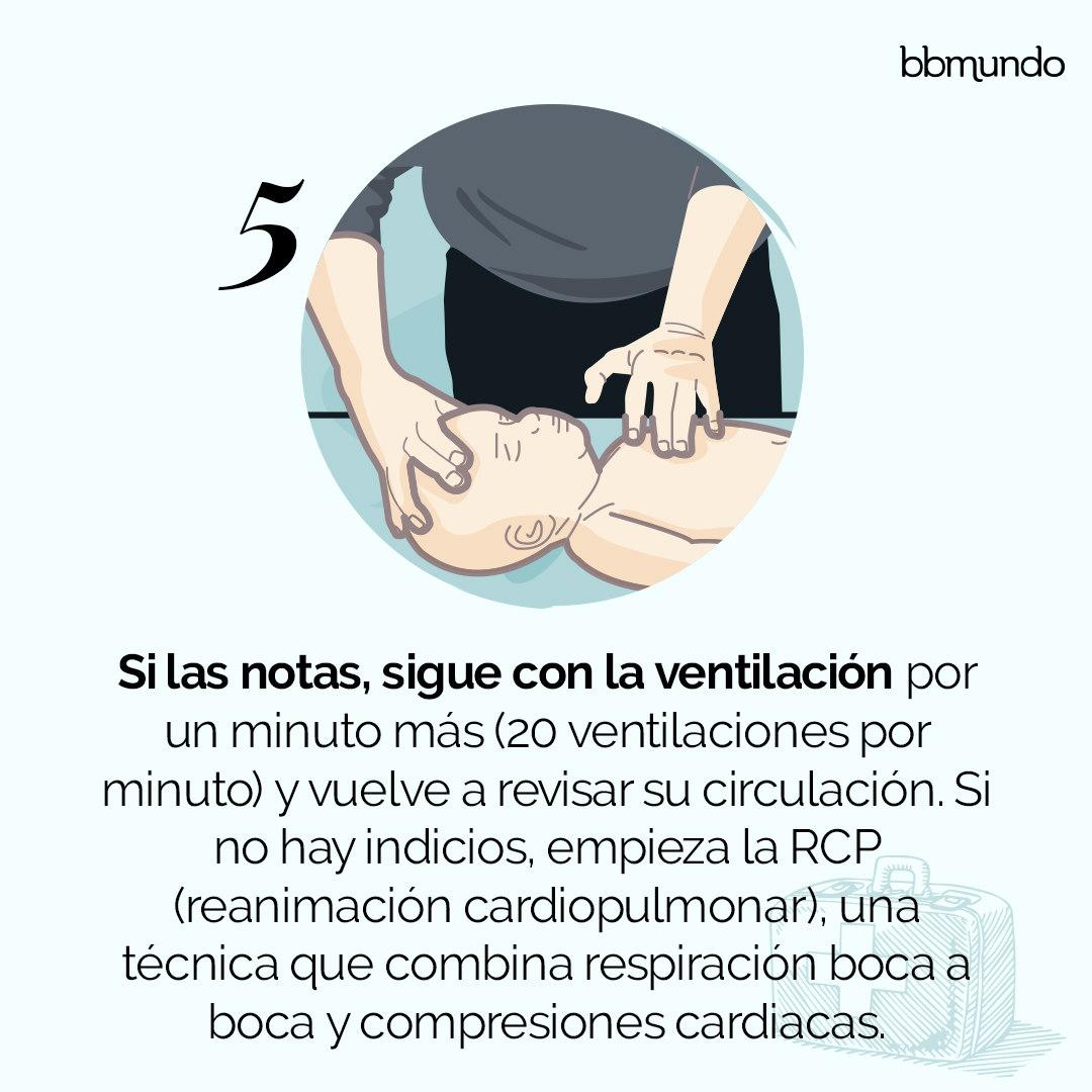 5. Sigue con la ventilación