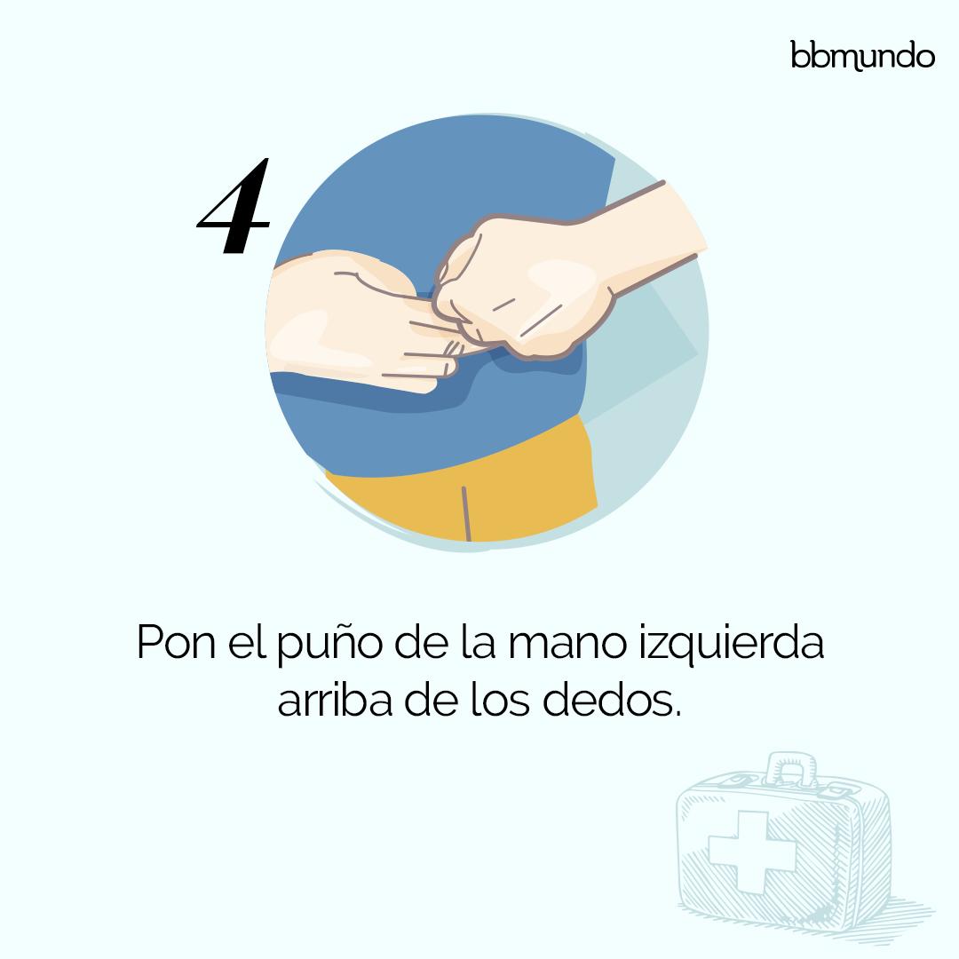 4. Puño arriba de los dedos