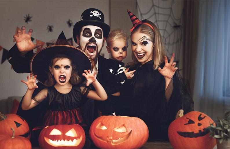 disfraces de Halloween en familia