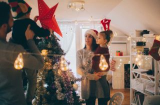 Adornar antes de Navidad