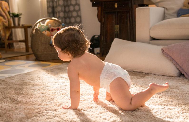Esto asegurará que tu bebé gatee