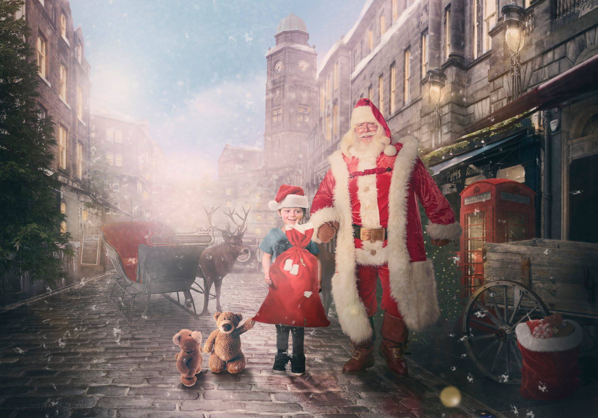 Strolling with Santa