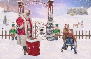 Santa Claus visita a niños enfermos en los hospitales