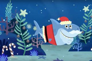 Versión navideña de Baby Shark