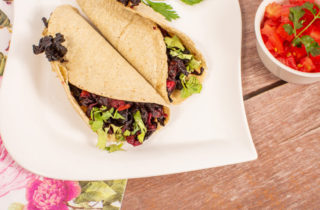 Tacos vegetarianos saludables y deliciosos
