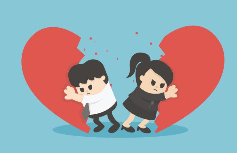 una relación termina