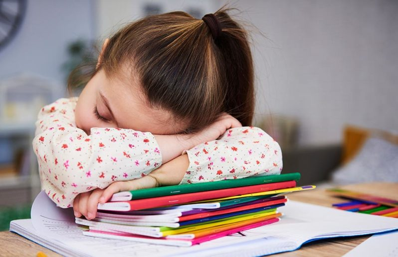 Cerebro de un niño que no duerme