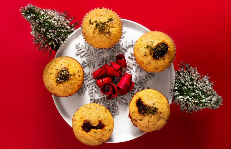 Botanas y ensaladas navideñas