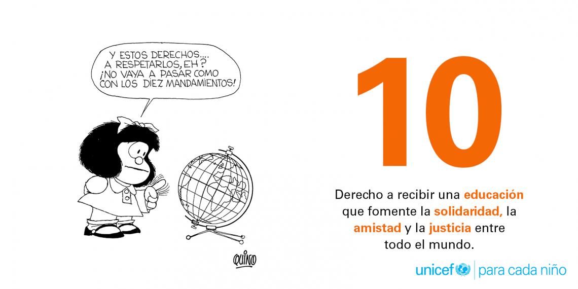 10. Derecho a recibir educación