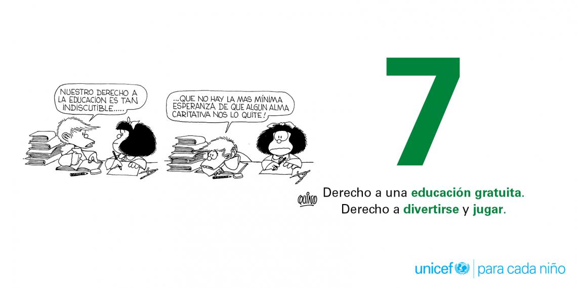 7. Derecho a educación gratuita