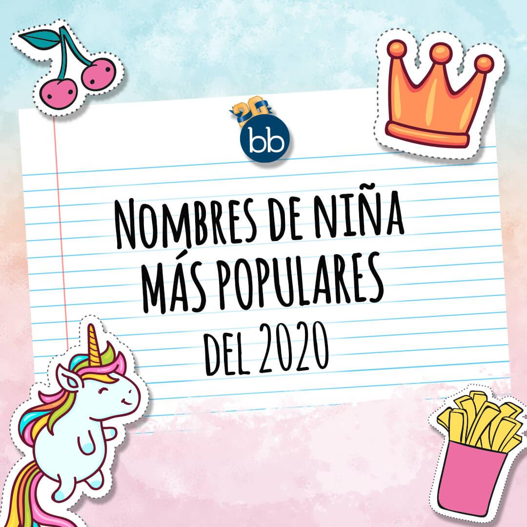 20 nombres para niña más populares del 2020